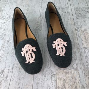 Tory Burch Antonia Loafer SlipOn Flats Embroidered